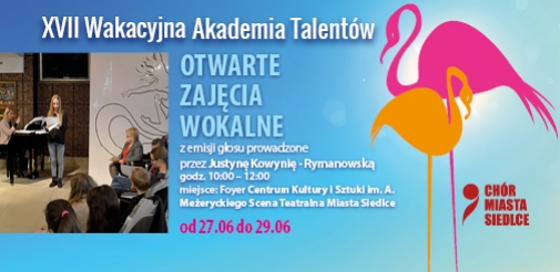 Wakacyjna Akademia Talentów - Otwarte zajęcia z emisji głosu